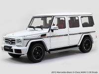 2015 Mercedes-Benz G-Class W463 white 1:18 iScale diecast Scale Model Car
