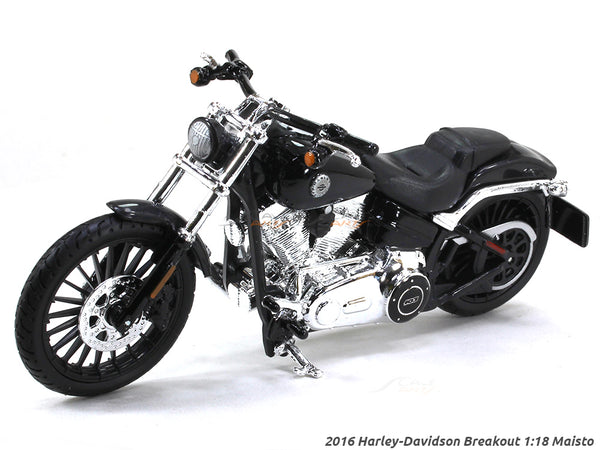 2016 Harley-Davidson Breakout black 1:18 Maisto diecast scale model bike