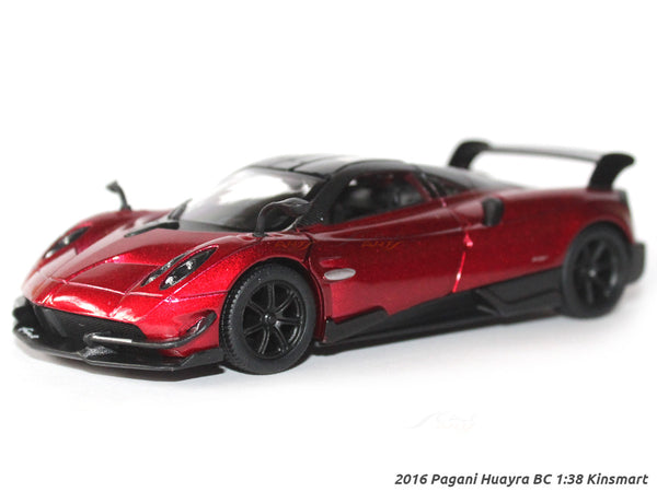 2016 Pagani Huayra BC red 1:38 Kinsmart diecast scale model Car