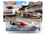 2016 Ford GT Race Ford C-800 Team Transport 1:64 Hotwheels premium collectible