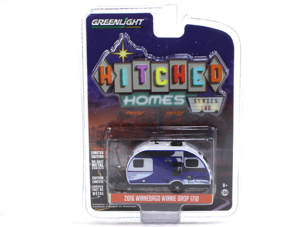 2016 Winnebago Winnie Drop 1710 blue 1:64 Greenlight diecast Scale Model car