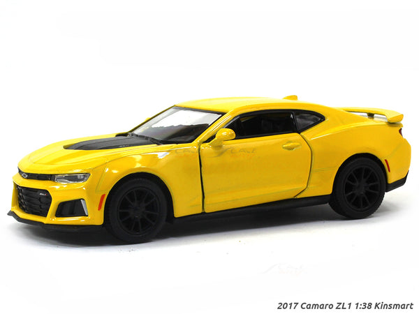 2017 Chevrolet Camaro ZL1 yellow 1:38 Kinsmart scale model car