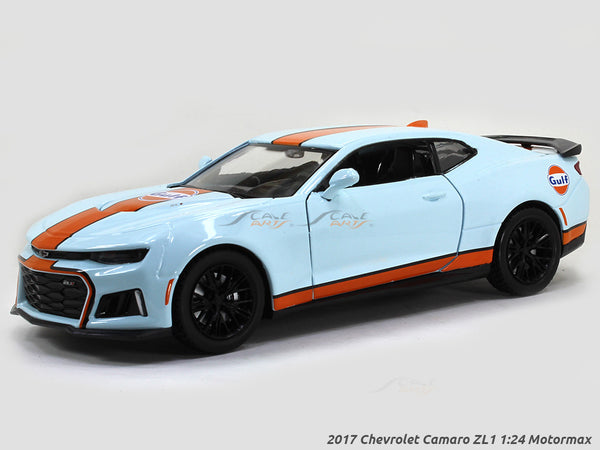2017 Chevrolet Camaro ZL1 gulf 1:24 Motormax diecast scale model car