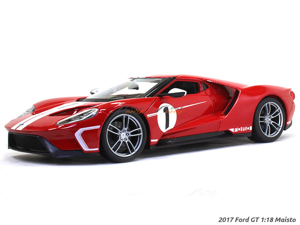 2017 Ford GT red 1:18 Maisto diecast Scale Model car