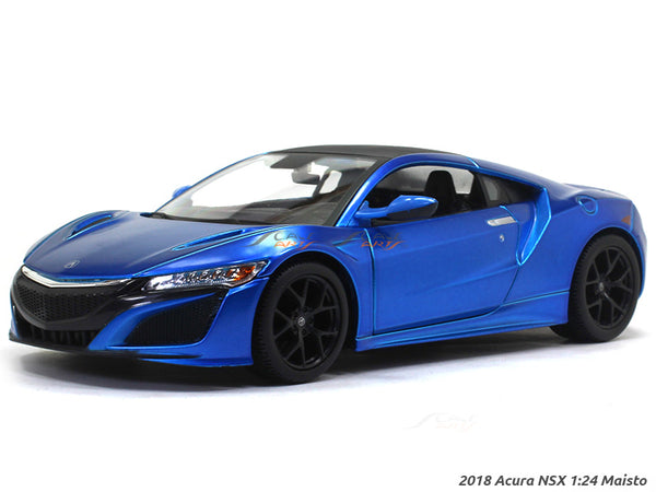 2018 Acura NSX blue 1:24 Maisto diecast Scale Model car
