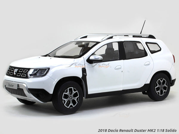 2018 Dacia Renault Duster MK2 white 1:18 Solido diecast scale model