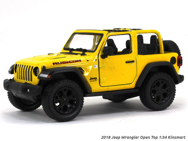 2018 Jeep Wrangler Open Top 1:34 Kinsmart scale miniature