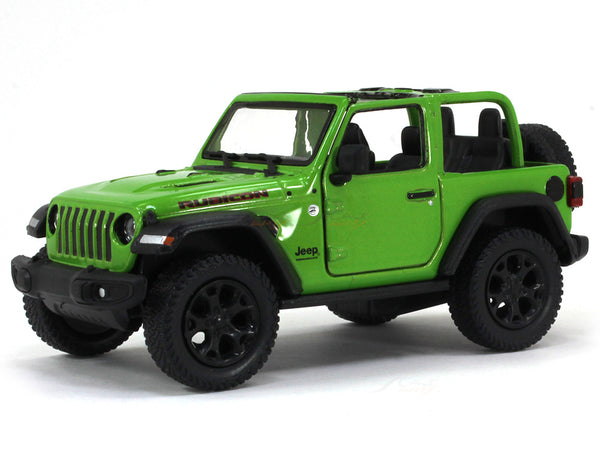 2018 Jeep Wrangler Open Top green 1:34 Kinsmart scale model car
