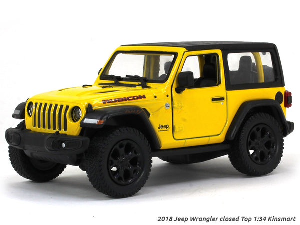 2018 Jeep Wrangler Closed Top 1:34 Kinsmart scale model car
