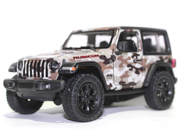 2018 Jeep Wrangler Camo 1 Closed top 1:34 Kinsmart scale model car