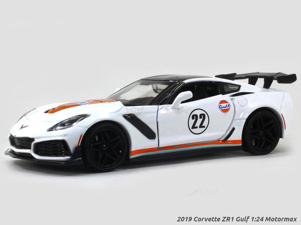 2019 Corvette ZR1 Gulf 1:24 Motormax diecast scale model car