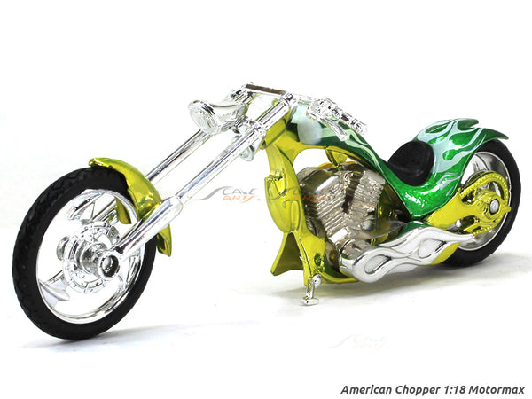 American Chopper Green 1:18 Motormax diecast scale model bike