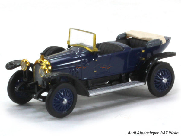 Audi Alpensieger blue 1:87 Ricko HO Scale Model car