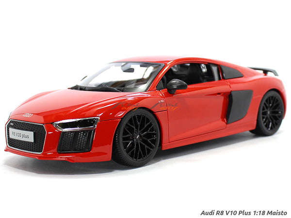 Audi R8 V10 Plus red 1:18 Maisto diecast Scale Model car