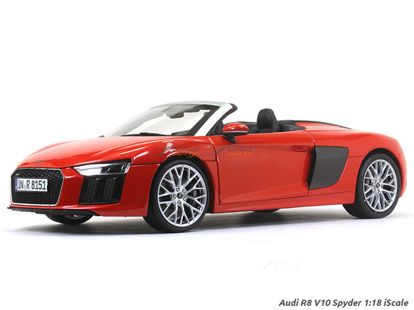 Audi R8 V10 Spyder red 1:18 iScale diecast Scale Model Car