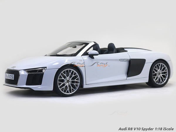 Audi R8 V10 Spyder white 1:18 iScale diecast Scale Model Car