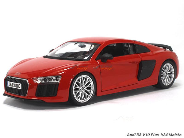 Audi R8 V10 Pilus red 1:24 Maisto diecast Scale Model car