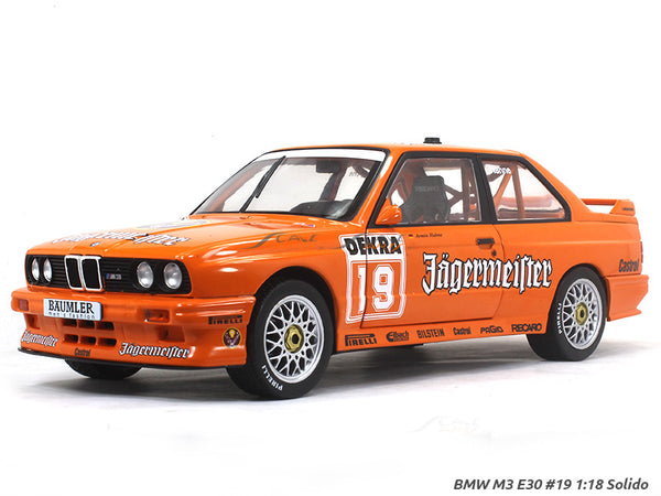 BMW M3 E30 #19 DTM 1:18 Solido diecast Scale Model Car
