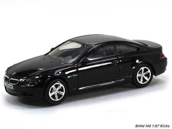 BMW M6 black 1:87 Ricko HO Scale Model car