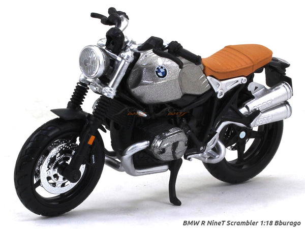 BMW R NineT Scrambler Blister pack 1:18 Maisto diecast scale model bike