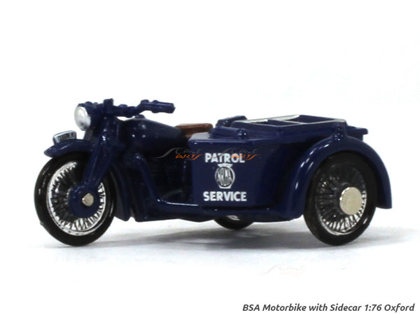BSA Motorbike with Sidecar 1:76 Oxford diecast Scale Model Bike