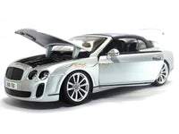 Bentley Continental Supersport Convertible silver 1:18 Bburago diecast Scale Model car
