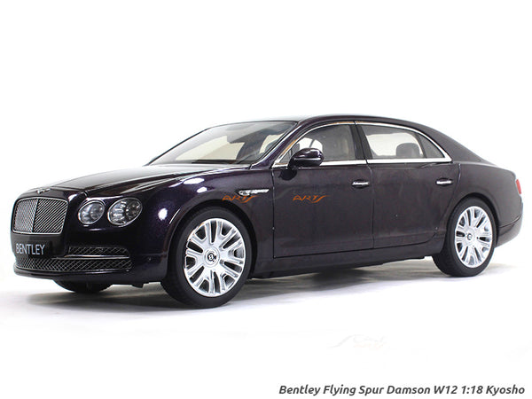 Bentley Flying Spur Damson W12 1:18 Kyosho diecast Scale Model Car