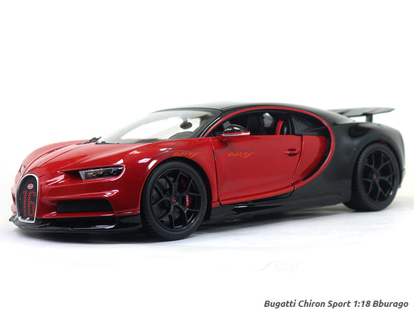 Bugatti Chiron Sports 16 red 1:18 Bburago Scale model car