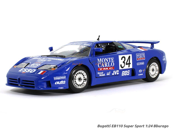 Bugatti EB110 Super Sport Blue 1:18 Bburago diecast Scale Model car