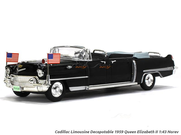 Cadillac Limousine decapotable Queen Elizabeth II 1:43 Norev diecast Scale Model Car