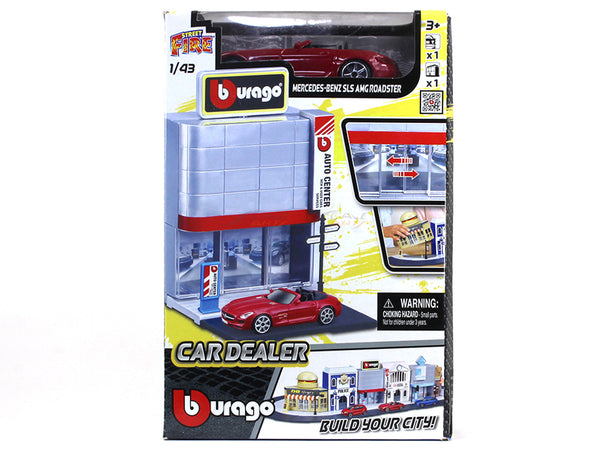 Car Dealer diorama with car 1:43 Bburago kit