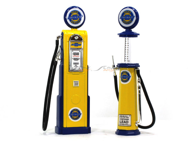 Chevrolet Service Gas Pump set 1:18 Road Signature Yatming diecast model
