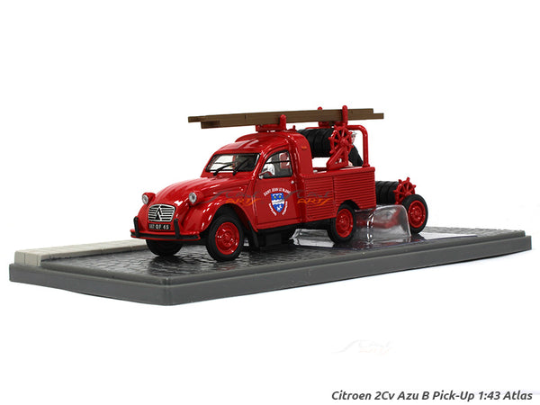 Citroen 2CV Fire dept pickup 1:43 Atlas diecast Scale Model Van