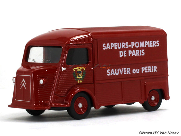 Citroen HY red 1:54 Norev diecast scale model car