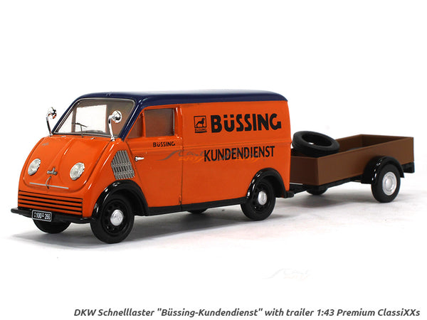 DKW Schnelllaster with trailer 1:43 Schuco diecast Scale Model Van