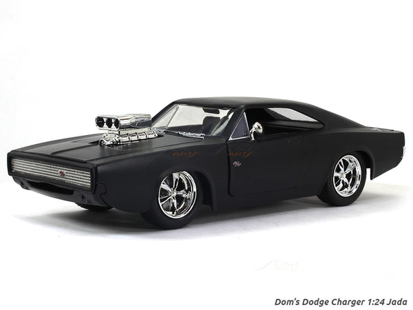 Dom's Dodge Charger matte Fast & Furious 1:24 Jada diecast Scale Model car