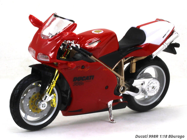 Ducati 998R 1:18 Bburago diecast scale model bike
