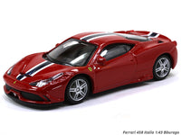 Ferrari 458 Italia 1:43 Bburago diecast Scale Model car