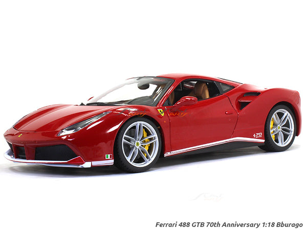 Ferrari 488 GTB 70th Anniversary 1:18 Bburago diecast scale model car