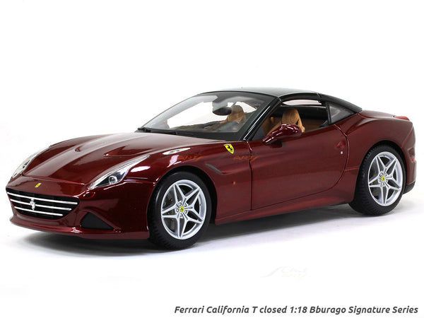 Ferrari California T closed Signature Series 1:18 Bburago diecast Scale Model car