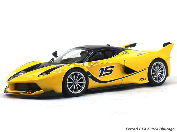 Ferrari FXX K yellow 1:24 Bburago diecast Scale Model car