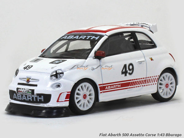 Fiat Abarth 500 Assetto Corse 1:43 Bburago diecast Scale Model car