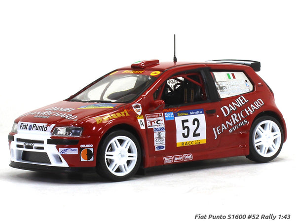 Fiat Punto S1600 52 Rally 1:43 diecast Scale Model Car