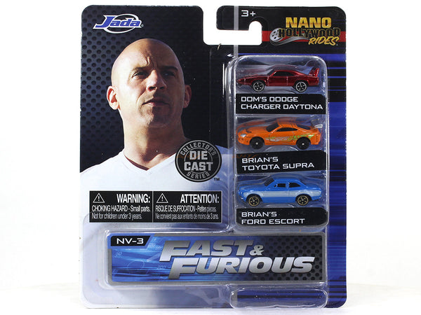 "Fast and Furious Hollywood Nano rides 1.65"" approx 1:87 Jada collectible"