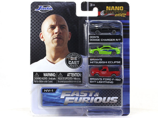 "Fast and Furious Hollywood Nano rides set2 1.65"" approx 1:87 Jada collectible"