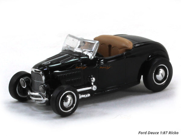 Ford Deuce black 1:87 Ricko HO Scale Model car