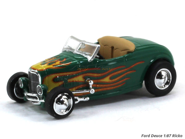 Ford Deuce green 1:87 Ricko HO Scale Model car
