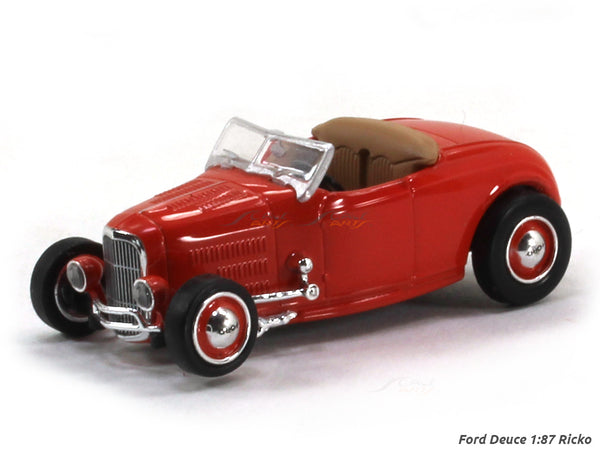 Ford Deuce red 1:87 Ricko HO Scale Model car