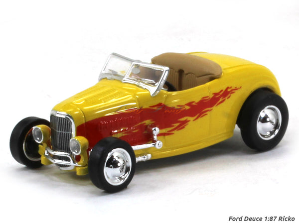Ford Deuce yellow 1:87 Ricko HO Scale Model car