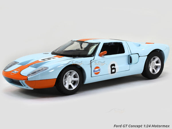 Ford GT Concept gulf 1:24 Motormax diecast scale model car